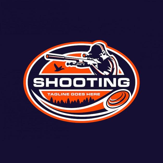 Modello di logo sport di tiro