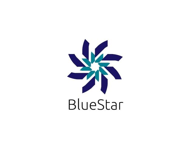 Modello di logo stella cerchio astratto