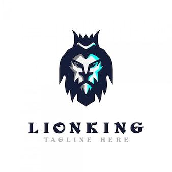 Modello di logo testa di leone.