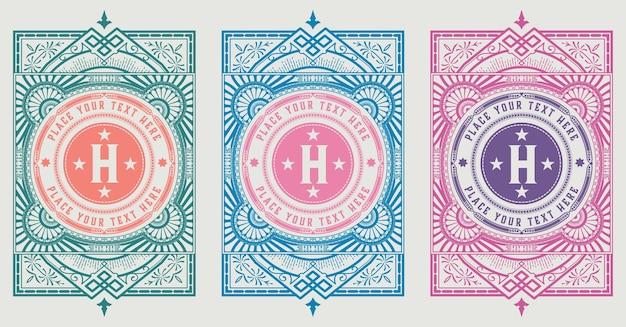 Modello di logo vintage, hotel, set di identità aziendale. design con elementi di design eleganti fiorisce.