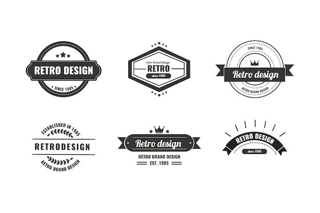 Modello di logo vintage identità aziendale
