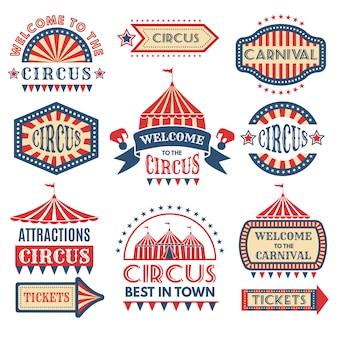 Modello di logotipi di eventi di carnevale.