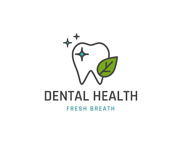 Modello di logotipo di salute dentale