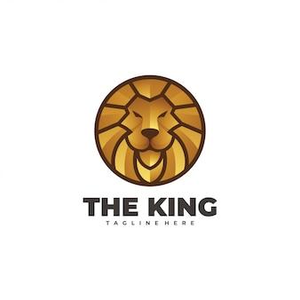 Modello di logotipo testa di leone