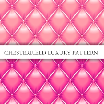 Modello di lusso chesterfield rosa e magenta