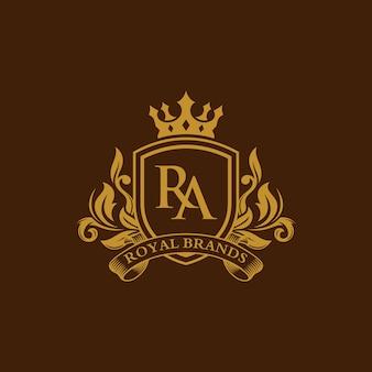 Modello di lusso emblema araldico