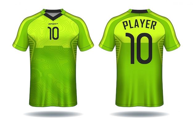 Modello di maglia da calcio. t-shirt sportiva.