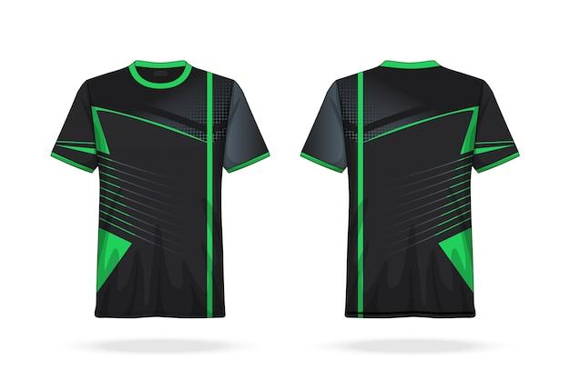 Modello di maglia girocollo di soccer t shirt