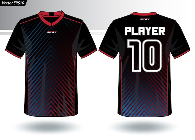 Modello di maglia sportiva per divise della squadra