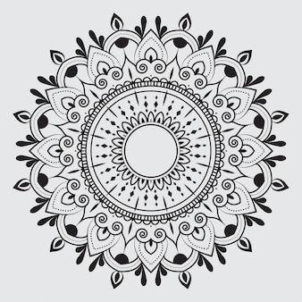Modello di mandala arabesco semplice per carta di nozze, invito, flyer, brochure