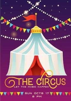 Modello di manifesto annuncio circo