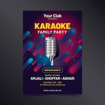 Modello di manifesto astratto di karaoke