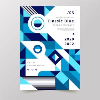 Modello di manifesto classico tavolozza blu 2020