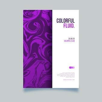 Modello di manifesto colorato effetto fluido