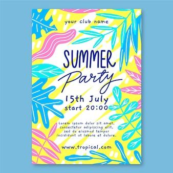 Modello di manifesto del partito estivo