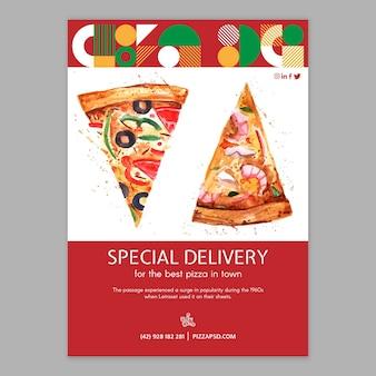 Modello di manifesto del ristorante pizza