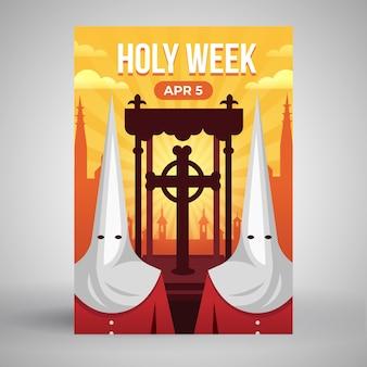 Modello di manifesto della settimana santa