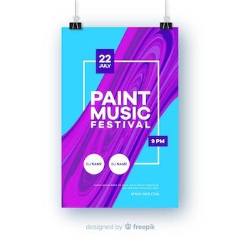 Modello di manifesto di musica astratta del manifesto di musica