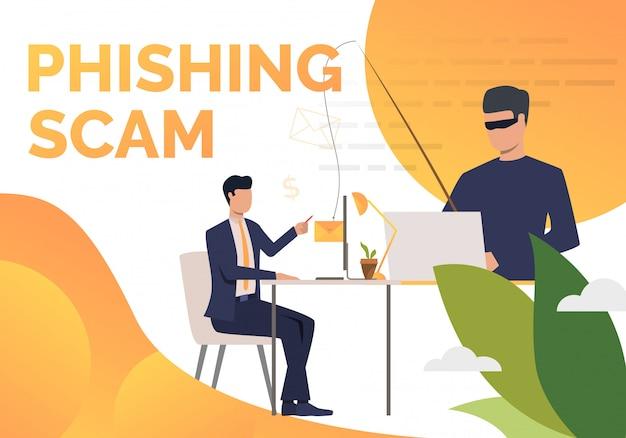 Modello di manifesto di phishing scam