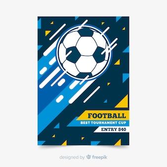 Modello di manifesto di sport con pallone da calcio