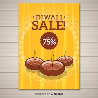 Modello di manifesto di vendita di diwali