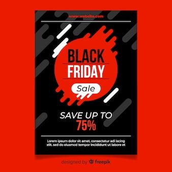 Modello di manifesto di vendita venerdì nero