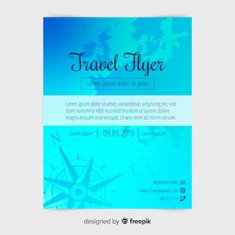 Modello di manifesto di viaggio piatto