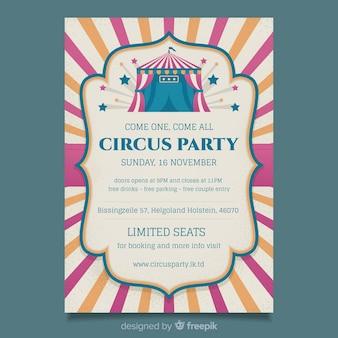 Modello di manifesto festa circo d'epoca