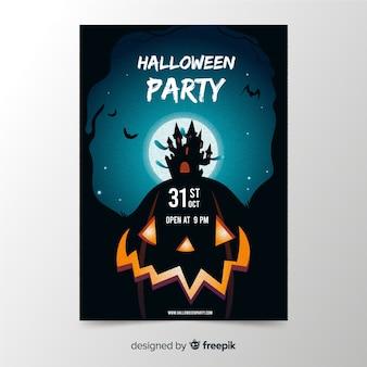 Modello di manifesto festa di halloween disegnati a mano