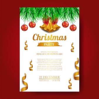 Modello di manifesto festa di Natale