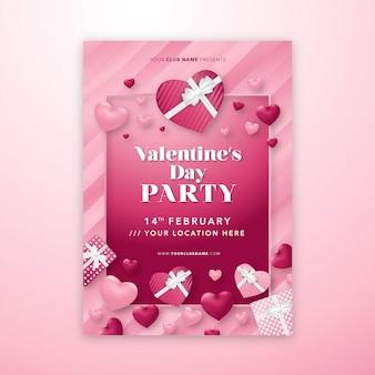 Modello di manifesto festa di san valentino