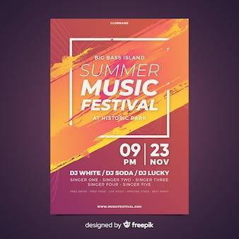 Modello di manifesto festival di musica