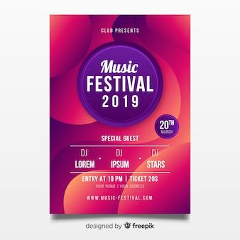 Modello di manifesto festival musica astratta