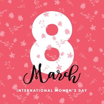 Modello di manifesto internazionale moderna giornata della donna