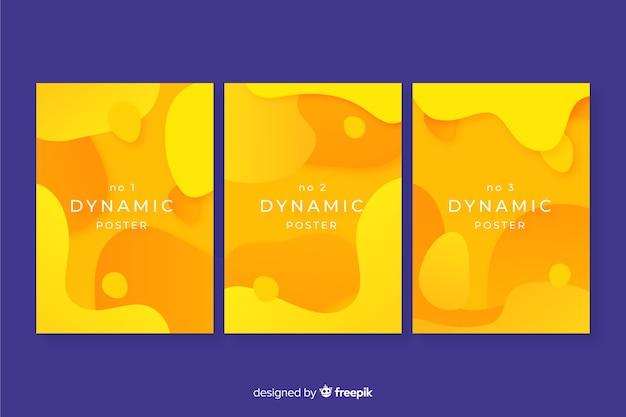 Modello di manifesto moderno con forme dinamiche