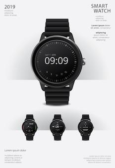 Modello di manifesto orologio intelligente