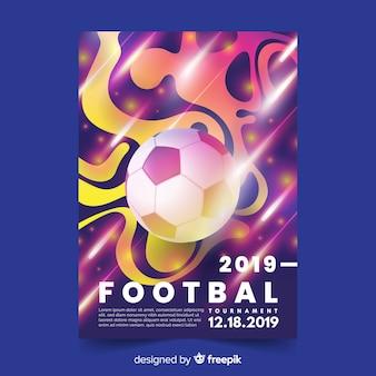 Modello di manifesto realistico gradiente di calcio