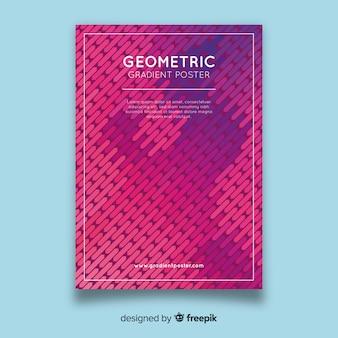 Modello di manifesto sfumatura geometrica