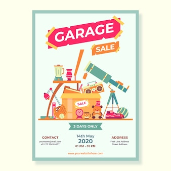 Modello di manifesto vendita garage pubblico