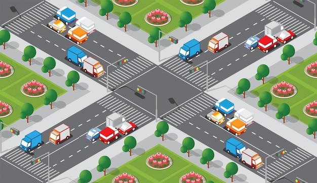 Modello di mappa della città senza soluzione di continuità