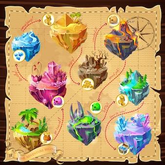 Modello di mappa di gioco isometrica