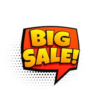 Modello di marketing di grande vendita in stile fumetto