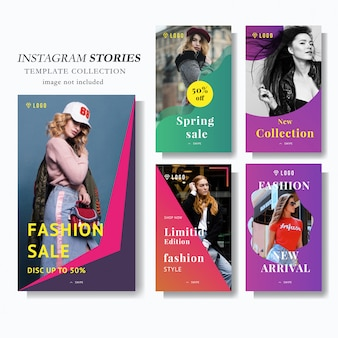 Modello di marketing di instagram story