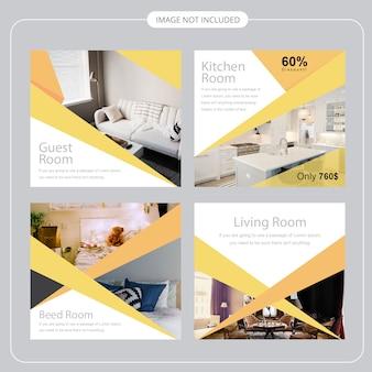 Modello di media sociali immobiliari immobiliari
