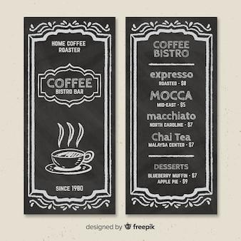 Modello di menu caffè