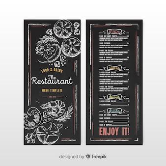Modello di menu del ristorante in stile vintage