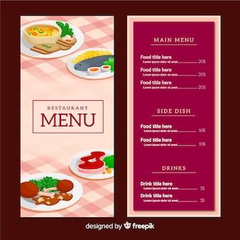 Modello di menu del ristorante moderno