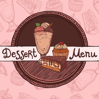 Modello di menu del ristorante schizzo