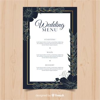 Modello di menu di nozze
