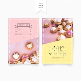 Modello di menu di panetteria dolce